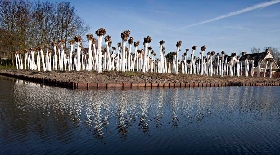 Saenredam Project - Land Art of Lucien den Arend - his site specific sculpture ordered by the city of Barendrecht