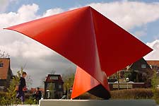 This is a site specific sculpture in mild steel, one of the sculptures by the Finnish / Dutch sculptor Lucien den Arend.