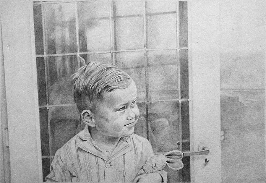 After my bath age 3 drawn from a photo by