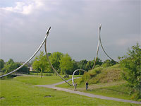 A large site specific sculpture in Houten, Holland covers a large area.