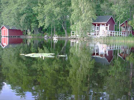 swimming and sauna vacations in your own cottage in south east Finland - summer, fall, autumn, winter and spring