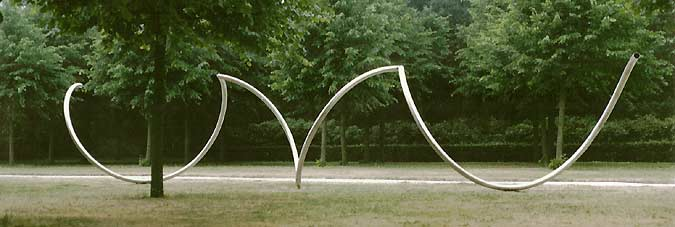 stainless steel sculpture in Velsen,  Holland